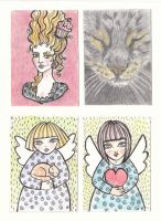 aceo's set 1 by nellbelle