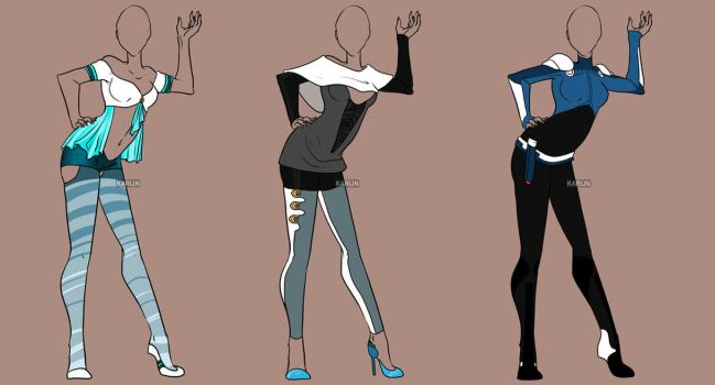 Fashion Adoptables Auction 17 - CLOSED by Karijn-s-Basement