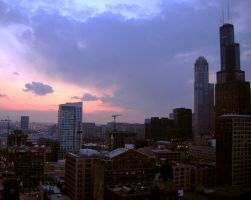 Sears Tower at Dusk by sarahb86