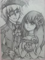 Pirate! EnglandXPrincess!Malaysia~(full view) by AhasakiYuuki