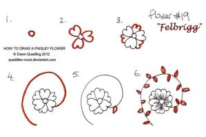 How to draw Paisley Flower 19 Felbrigg by Quaddles-Roost