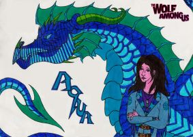 Wolf Among Us OC : Aquaria - Dragon of Water by crescentwolf01