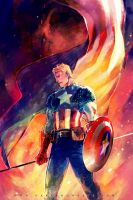 Captain America by Haining-art