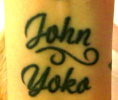 My John-Yoko tattoo by LondonSpring
