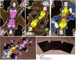 Cards with X-men by Vanthica