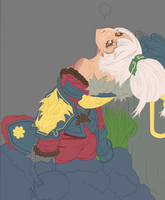 DragonBlade Riven Skin in process by zelphie00