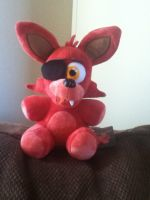 My Foxy Plush Came!! by AlphaScourgeFR