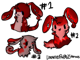 Earmouth Adoptables (red) by RRadopts