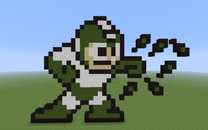 8-bit Mega Man Leaf Shield Minecraft by DeadplinkOfTheSand