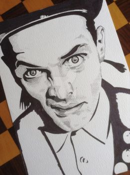 Rik Mayall drawing WIP Tribute the young ones by billyboyuk