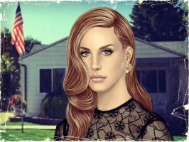 Commission Lana del Rey by ShadCarlos