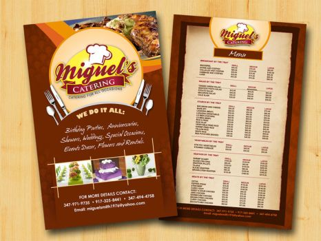 Catering flyer by owdesigns