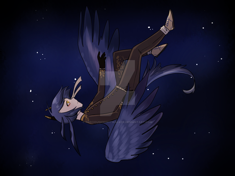 [Completed YCH] Night sky and Stars by PreciousKnightwalker