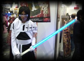 Uryu cosplayer with Seele Sch. by JonsProjects