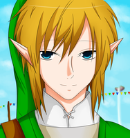 Skyward Sword Link by HanekawaSatsukitane