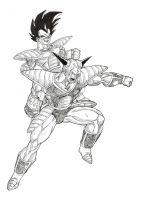 Vegeta vs Ginyu by bloodsplach