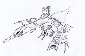 The Harlets Curse Space Pirate Gunship by Angryspacecrab