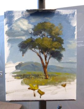 Quick demo for students, landscape class by David-McCamant