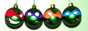 TMNT Ornaments - The Green Gang with Candy Canes by DayandNight90