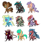 50p Adoptables Batch 1 by DG-Comatose