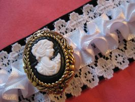 Ruffle Collar with Cameo by mad-hatter-inc