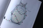 Happy Holidays from Totoro! by galacticpetunia
