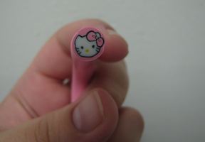 Cane: Pink Hello Kitty by pinabear
