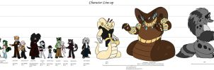 Character Line up by Frankyding90