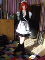 Erza Maid Cosplay by freakgirl7