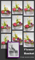 Flower Basket Stock by pixelmixtur-stocks