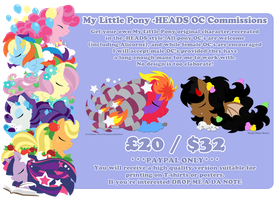 Pony -HEADS commission details by raygirl