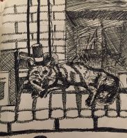 Lounge cat by thePainGod