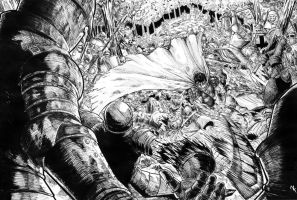 guts VS a 100 men by loneHUNGRYwolf