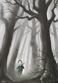 Foggy forest by gfellou