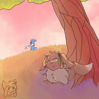 AT: Summer Breeze By The Tree With Mel by Zander-The-Artist