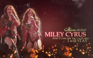 Miley's Wallpaper - GHT Mexico by AreliCyrusBieber