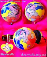 FLCL Haruko headphones by Iheartnella