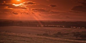 Sunset from Weetslade by svendo