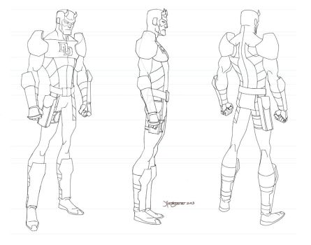 Daredevil Turn LineArt WEB by RC-draws