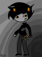 Karkat and his sickle by StevylikesHS