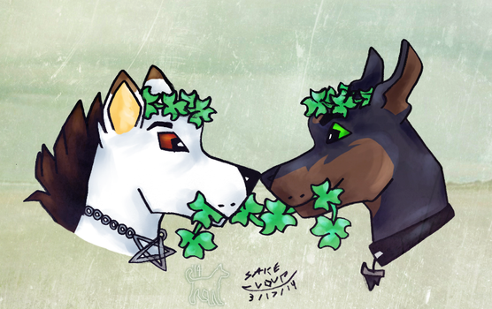 Clover Crowns for St. Patty's by KigerwolfRD