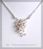 Silver Flower by blackcurrantjewelry