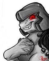 Megatron Pony by blackheartedhate