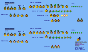 MLSS Bowser Jr Sprites by PxlCobit
