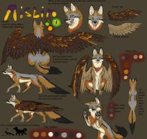 Aislin (Fursona) - Feral Fox Form Ref by DarthAislin