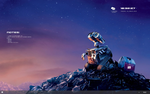 Rainmeter Wall.E Minimal Desktop Setup by cloudedhearts