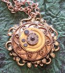Golden Steampunk Pendant by cjgrand