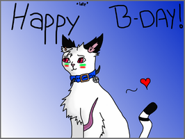 Happy birthday!!!! [OMW SOO LATE. ] by thedoomedkitteh