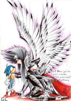 Art colaboration: Hades and Sonic by zeroa5raven