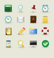 Free vector icon set 1 by bevel-and-emboss
